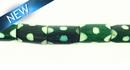 Dyed bone tube green 6x10mm