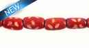 "Dyed bone tube Red ~8"" wholesale beads"