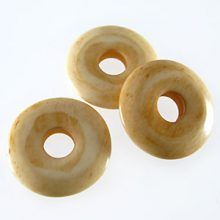 Tea-dyed bone donut beads 20mm