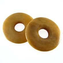 Tea-dyed bone donut beads 30mm