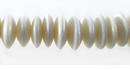 White bone saucer 8mm wholesale beads