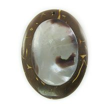 Coco oval 25x34mm /hammershell wholesale pendants