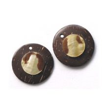 Coco round 23mm earring/MOP wholesale