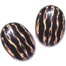 oval with stripes 2mm hole wholesale