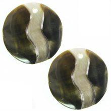 blacklip shell round earring