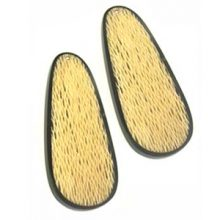 Papaya bark elongated earring component