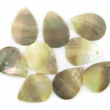 Blacklip shell pendant flat teardrop