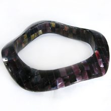 wholesale violet oyster blocking wavy bangle