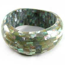 Wholesale abalone shell inlay jewelry bangle