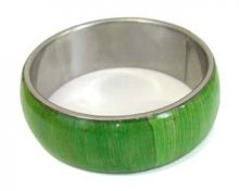 Wholesale olive green jewelry bangles with corn inlay