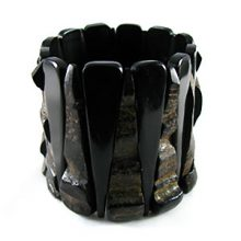 Black horn bracelet combo wholesale beads
