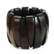Black ebony stretch bracelet