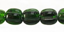 BOTTLE green melon shape lampworks 15mm wholesale beads