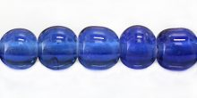 round COBALT blue LAMPWORK GLASS beads wholesale beads