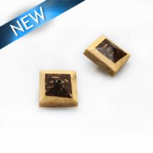 Natural double sided square with insert wholesale beads