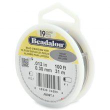 Beadalon 19 100' sp wholesale .33mm