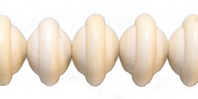 Wholesale White wood round saturn design beads