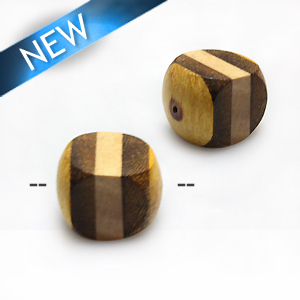 Robles irregular rondelle bead with whitewood