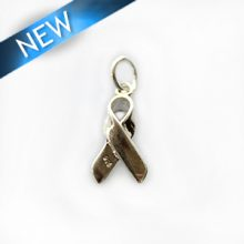 Thai silver cancer awareness symbol pendant