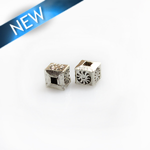 Thai silver cube wholesale beads