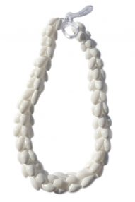 "White Bubble shell necklace 23"" wholesale"