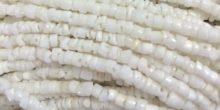 LS-White clam shell nugget heishi 2-3mm wholesale beads