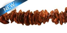 Pearl cornflakes center drill copper wholesale beads