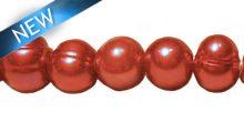 9mm potato pearl large hole ? royal pink wholesale beads