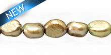 rice pearl with line 9x11mm grey large hole wholesale beads