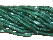 LS-Green adventurine square tube wholesale gemstones