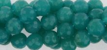 Green jade facted 10mm round beads wholesale gemstones