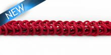 Dyed coco rings red; double interlink wholesale