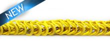 Dyed coco rings yellow; double interlink wholesale
