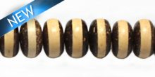 Natural Coco disc double sided bead wholesale
