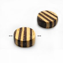 Natural coconut shell disc beads with insert 20mm