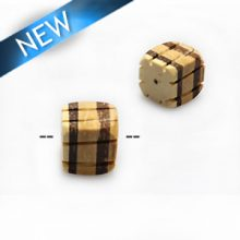 Natural coco irregular square insert wholesale beads