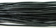 wholesale Black Round Leather Cord 2.0mm, 50m