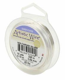 wholesale Artistic Wire 28 Ga. Non-Tarnish Silver