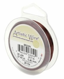 "wholesale ""Artistic Wire 20 Ga. Brown 15yds"""