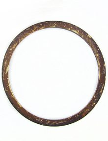 Brown coconut shell ring 54mm