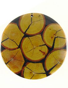 Chicos Wood Slice Inlay-Resin Back Thick wholesale