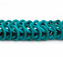 Coconut shell rings dyed turquoise green
