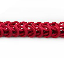 Coconut shell rings dyed red