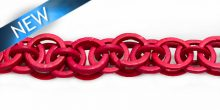 Dyed coco rings red; interlink wholesale