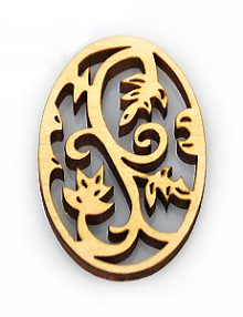 Laser cut hambabalud wood pendant 48mm