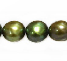 LS Pearl Potato Forest Green ~8-9mm wholesale beads