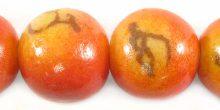 Wholesale Apple coral limestone round 25mm