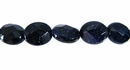Blue goldstone oval faceted wholesale beads