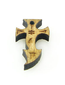 Mahogany wood cross laser designed 12mm