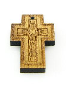Mahogany wood cross laser designed 18mm